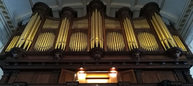 Concert à l'orgue Richard Fowkes – Église Saint George – Hanover Square – Londres – mars 2019