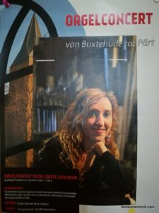 Cartel del concierto - Loreto Aramendi