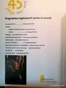 Programa del concierto - Loreto Aramendi