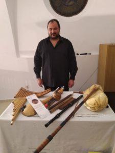 Pablo Mezzalani et ses instruments