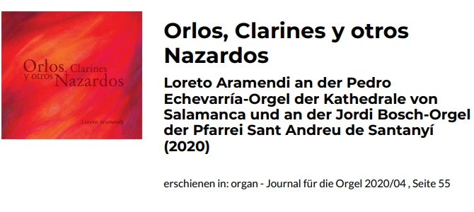 """Orlos, Clarines and other Nazardos"" CDaren berrikuspena ***** organ-journal.com"