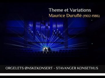 Loreto Aramendi plays Theme et Variations (Veni Creator) - Maurice Duruflé - Stavanger Concert Hall.